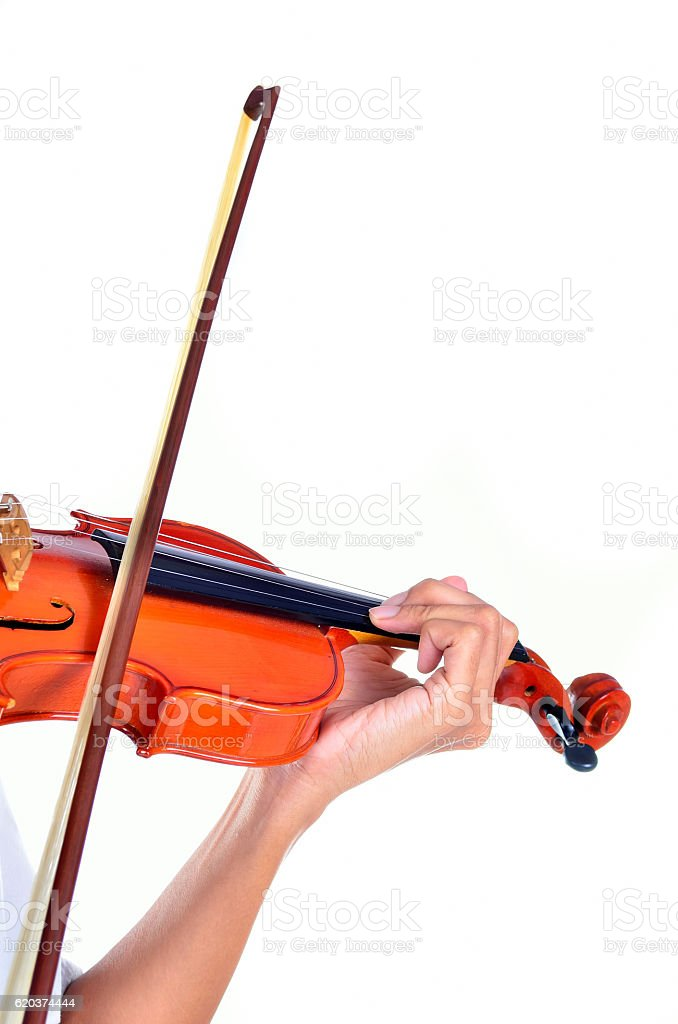 Detail of viola being played by a musician foto de stock royalty-free
