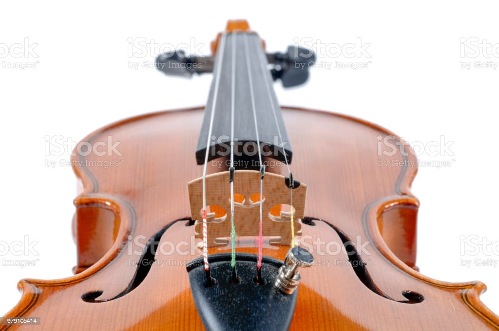 detail of violin as music instrument stock photo