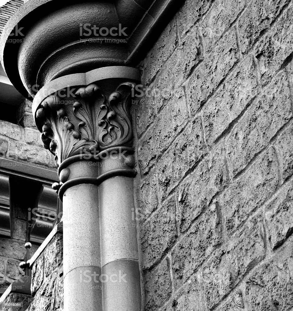 detail of wall and column royalty-free stock photo