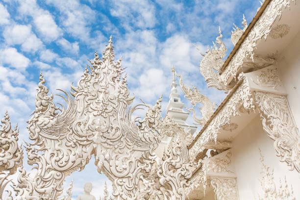 Detail des Wat Rong Khun (weiße Tempel) in der Provinz Chiang Rai – Foto