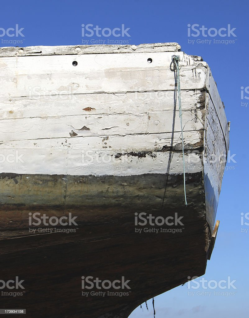 Detail of weathered old boat stock photo
