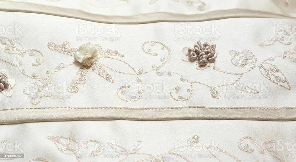 Detail of wedding dress royalty-free stock photo