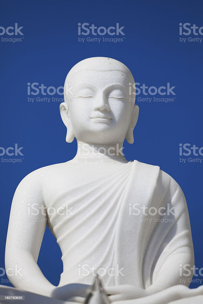 Detail of White Temple in Chiang Rai, Thailand royalty-free stock photo