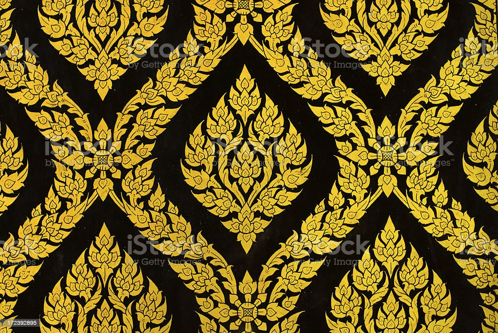 Detail of Window Panel at Wat Poh royalty-free stock photo