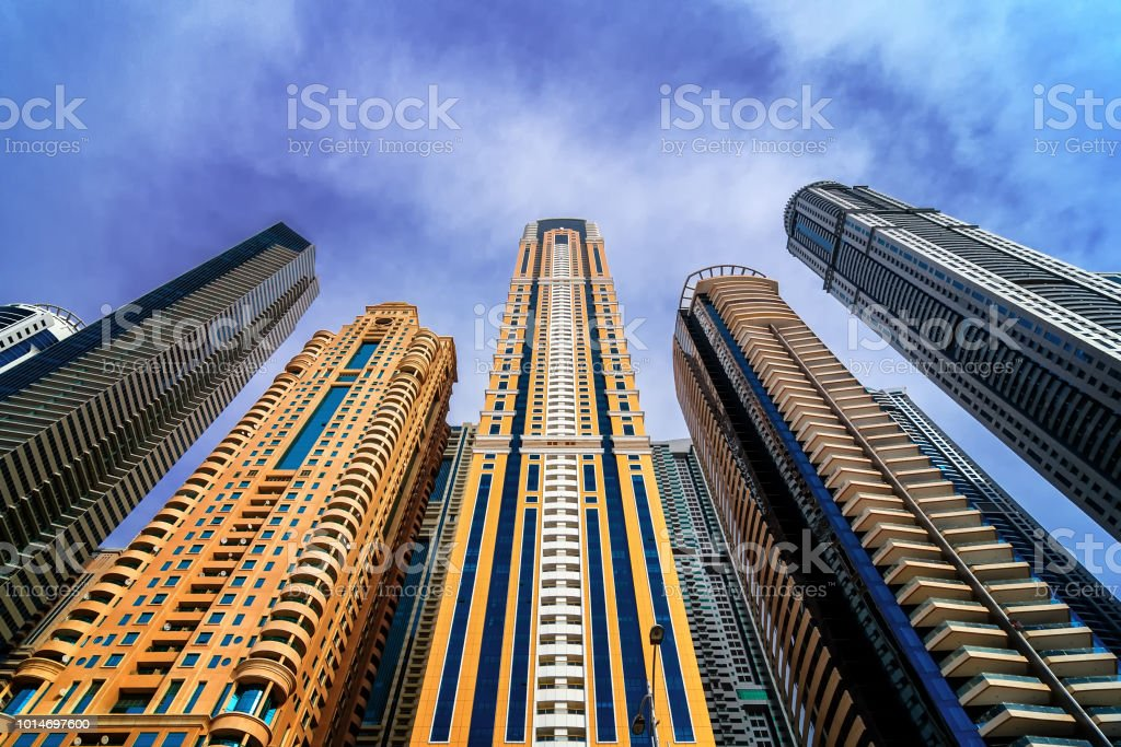 Detail Of World Tallest Residential Buildings Dubai Marina United Arab  Emirates Stock Photo - Download Image Now