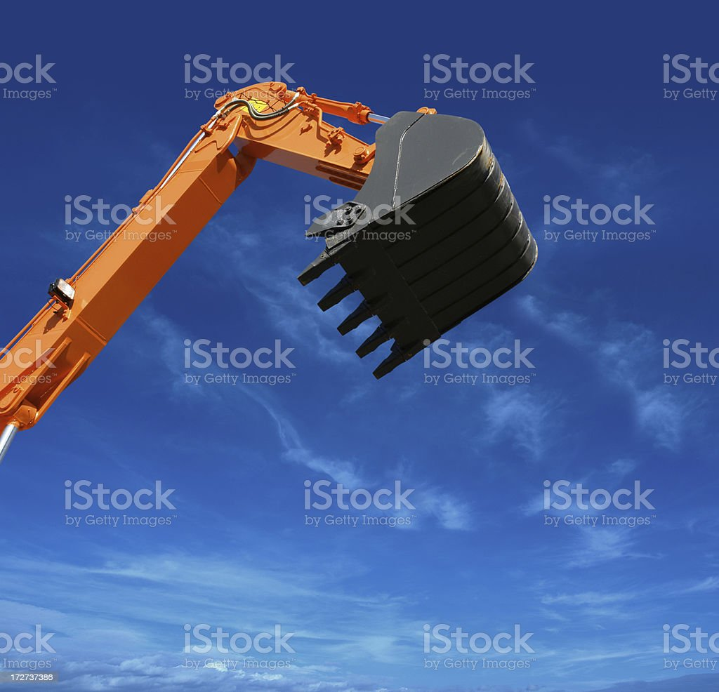 Detail of Yellow Excavator royalty-free stock photo