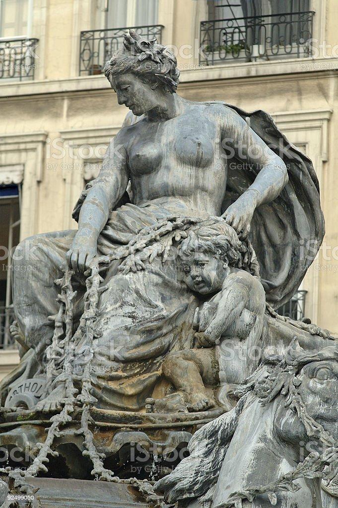 Detail on Bartholdi fountain royalty-free stock photo