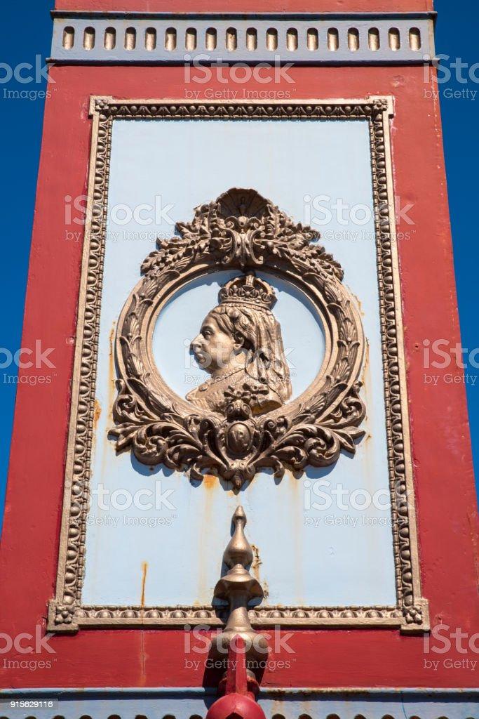 Detail on the Jubilee Clock in Weymouth, Dorset, UK stock photo