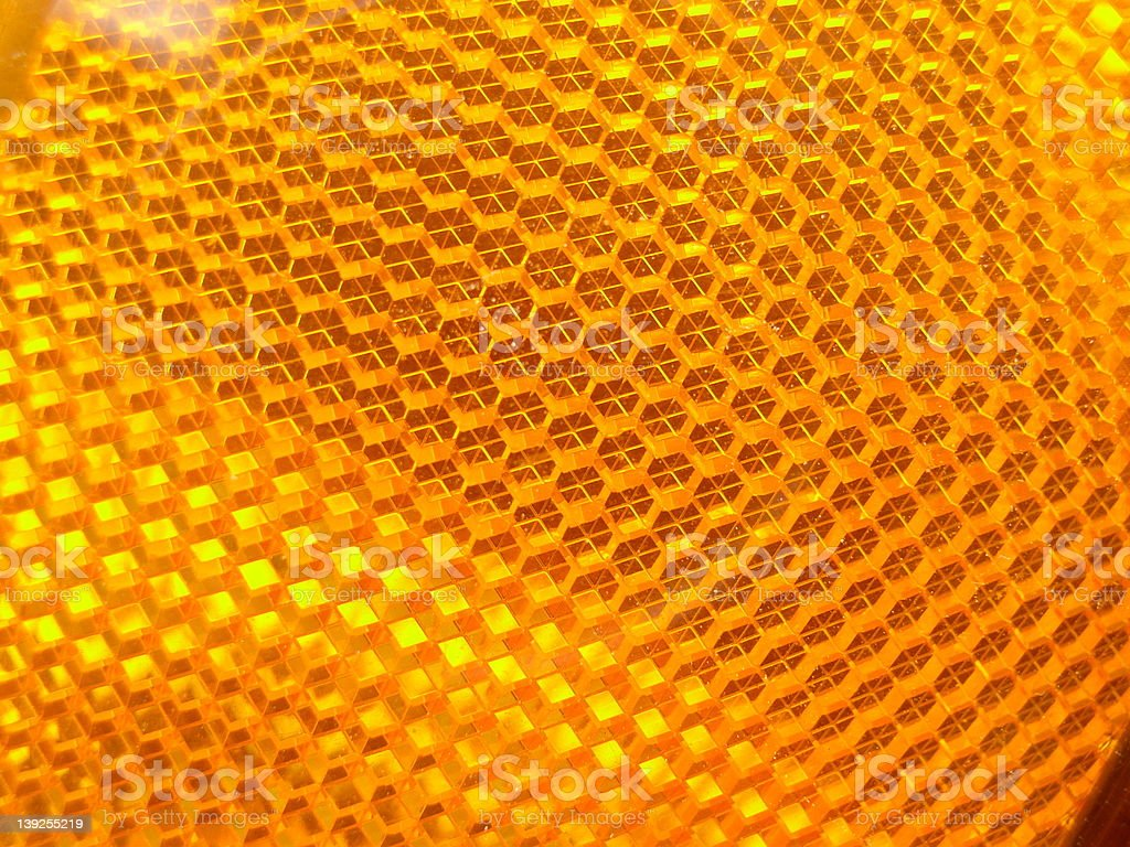 Detail, orange reflector stock photo