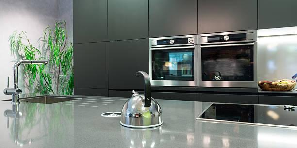 Details über die Teller moderne Küche mit Teekanne – Foto