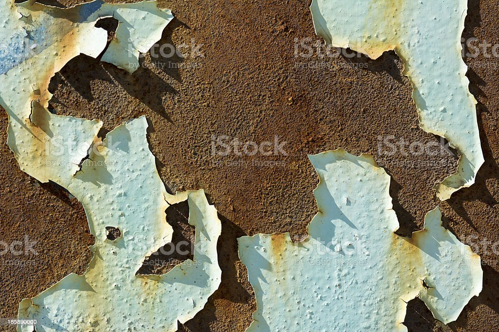 Detail Peeling Paint Exterior Abandoned Factory royalty-free stock photo