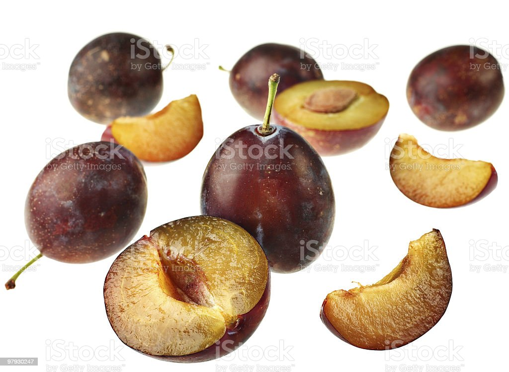 Detail plum royalty-free stock photo