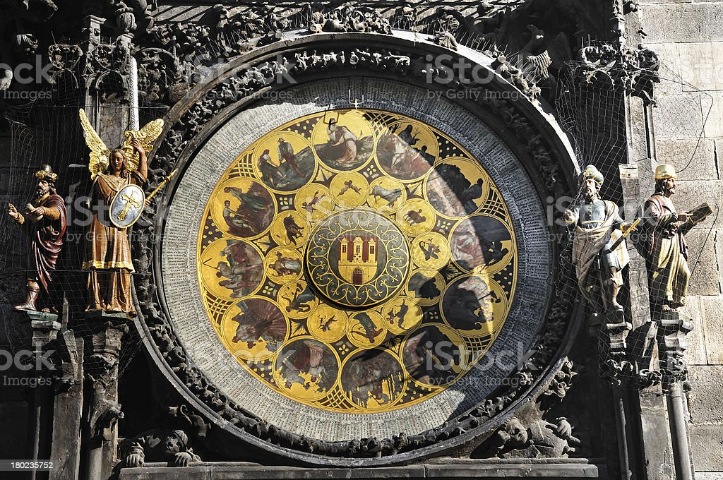 detail Prague Astronomical Clock royalty-free stock photo