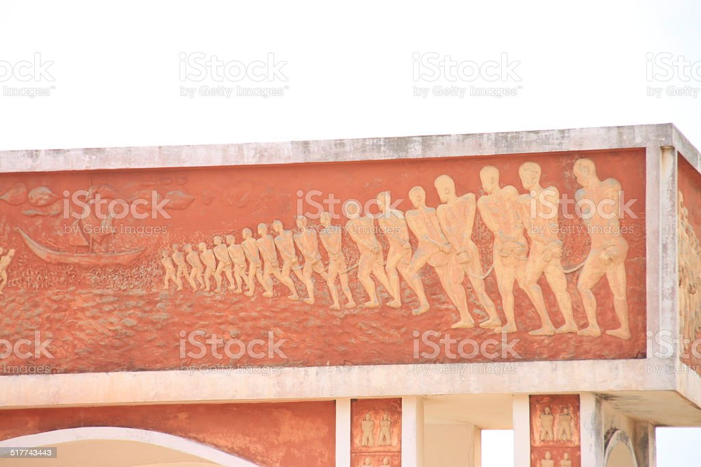 Detail right side - More than 10 million slaves stock photo
