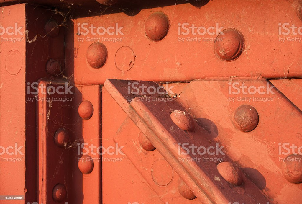 Detail riveted construction stock photo