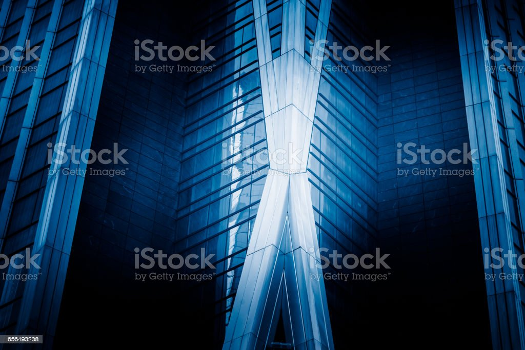 detail shot of modern architecture facade stock photo