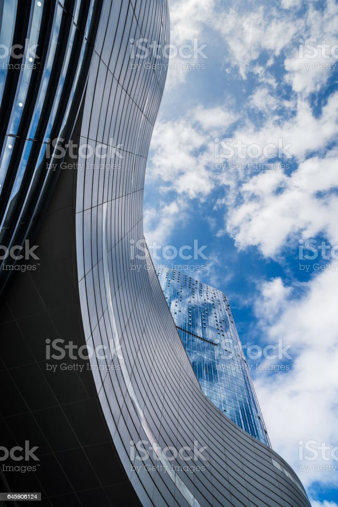 detail shot of modern business buildings stock photo