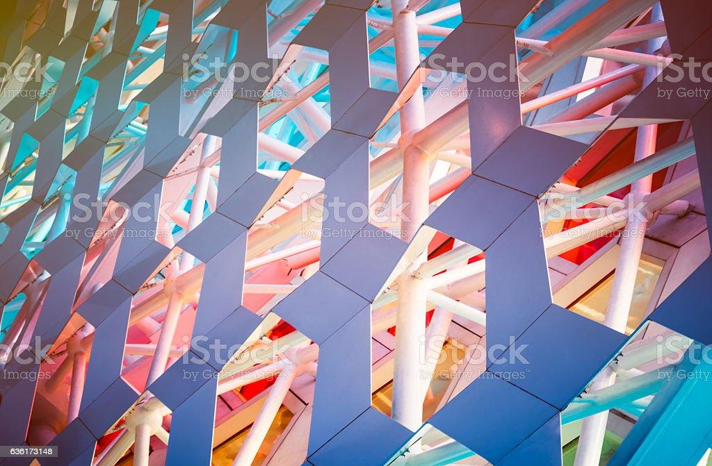Detail shot of patterned wall foto de stock libre de derechos
