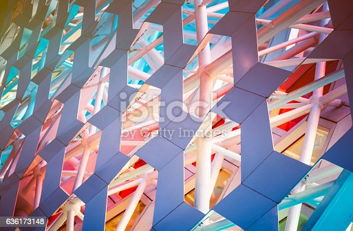 istock Detail shot of patterned wall 636173148