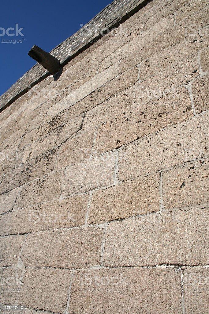 Detail Stone Bricks Great Wall of China close to Beijing royalty-free stock photo