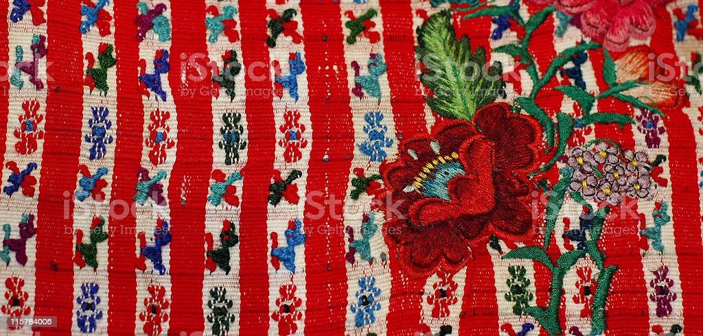 Detail Textile from Santiago Atitlan Guatemala stock photo