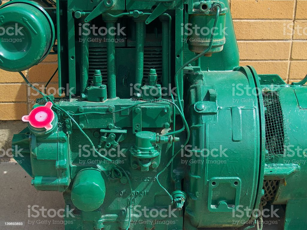 Detail view of industrial engine royalty-free stock photo
