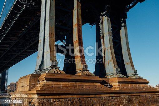 Detail view of Manhattan Bridge - Manhattan - New York