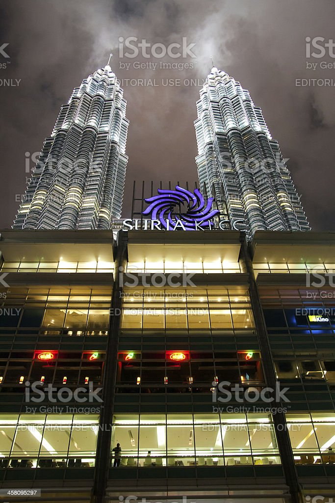 Detail view of Petronas Towers - modern business architecture royalty-free stock photo