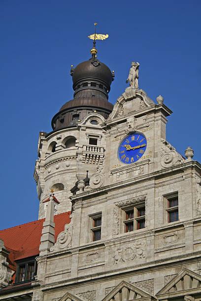 """Detailansicht """"Neues Rathaus"""" Leipzig stock photo"""