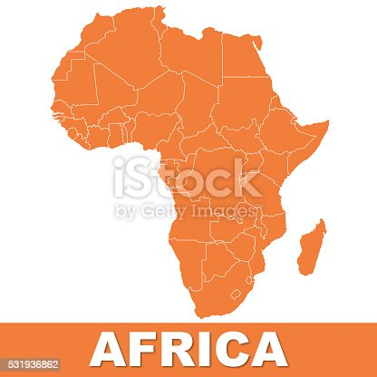 istock Detailed Africa Map 531936862