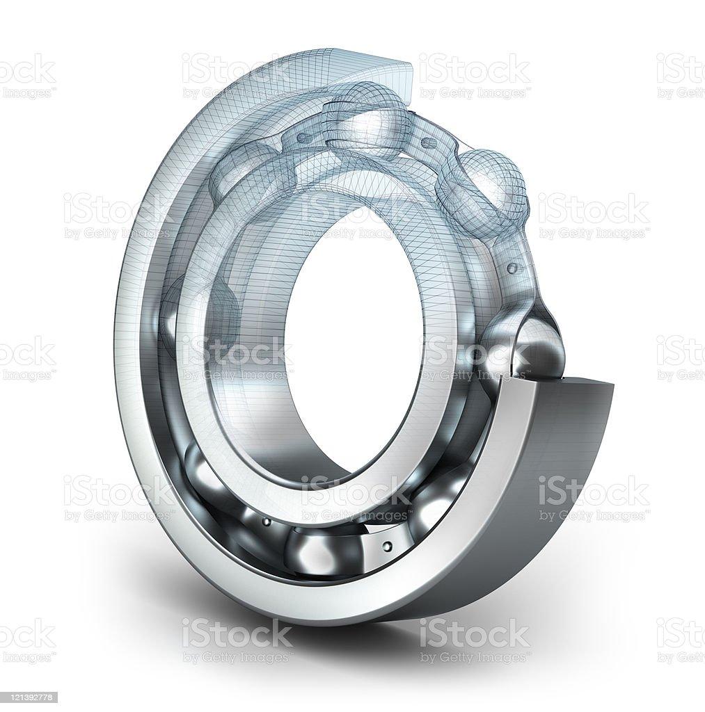 Detailed bearing design royalty-free stock photo