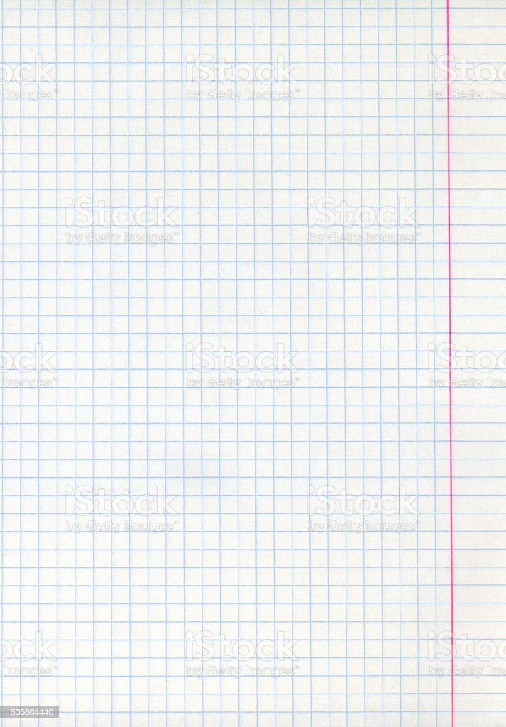 Detailed blank math paper sheet stock photo