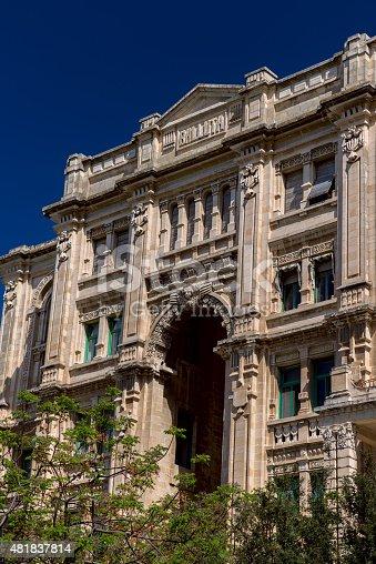 istock Detailed facade of Balluta building Malta 481837814