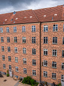typical 1910 architecture to house new comers in the city of Copenhagen in the last century.