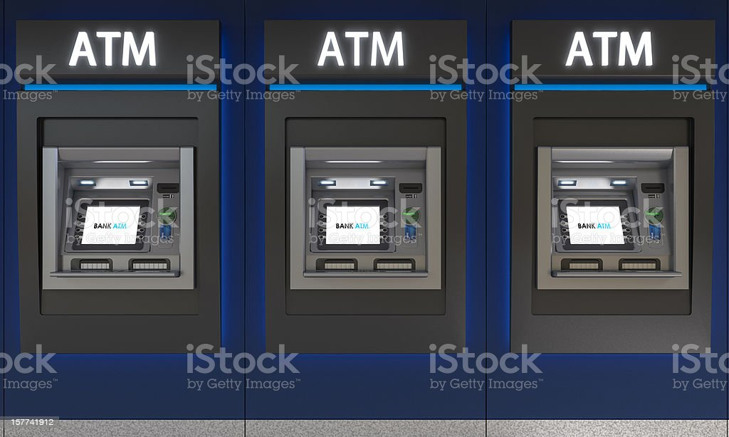 Detailed Image of an ATM royalty-free stock photo