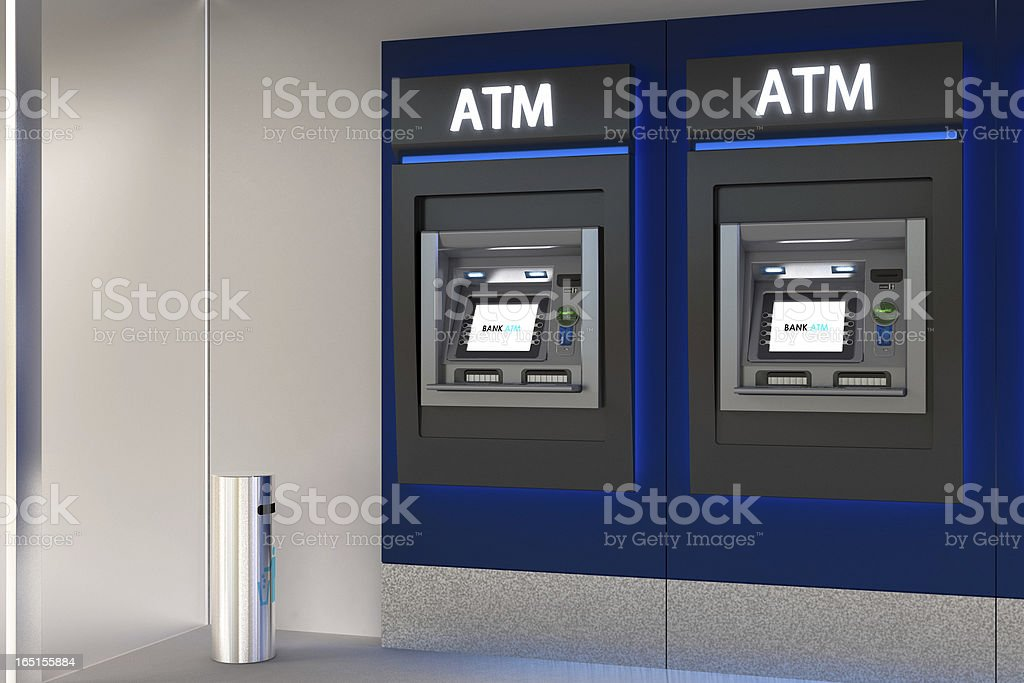 Detailed Image of an ATM stock photo