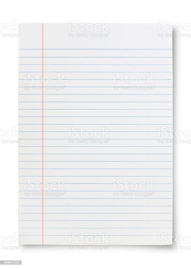 detailed lined paper texture, isolated stock photo