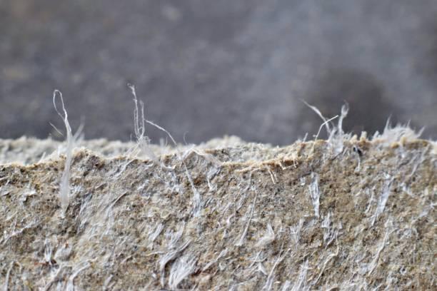photographie détaillée du matériau avec des fibres d'amiante de couverture de toiture. - fibre photos et images de collection