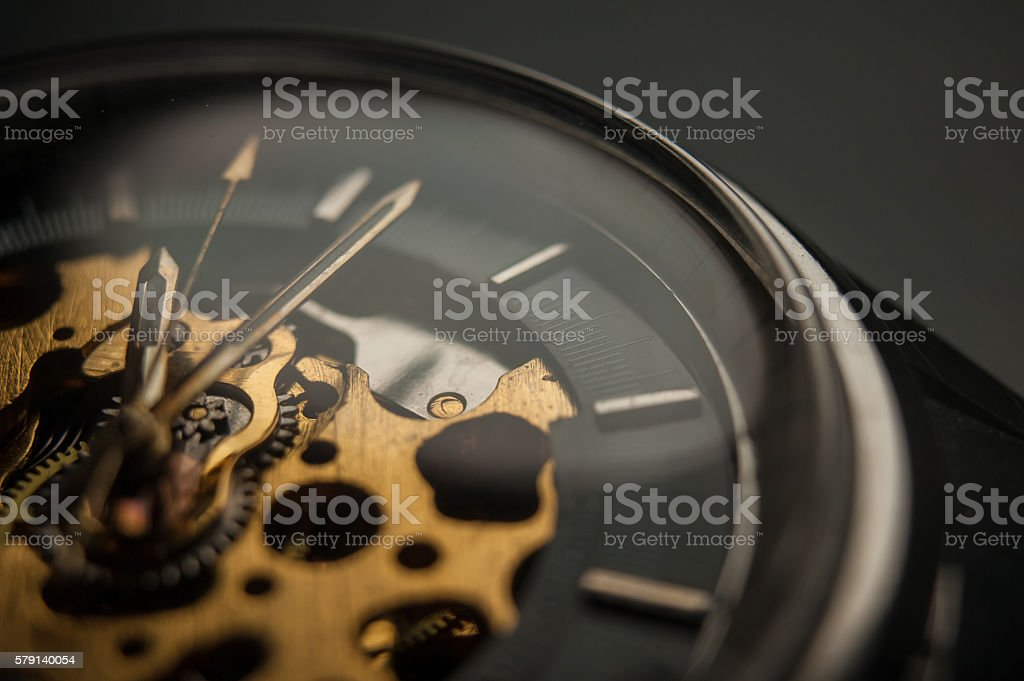 Detailed shot of a vintage watch or old watch. - Photo