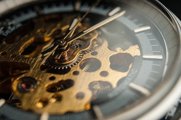 Detailed shot of a vintage watch or old watch. Detailed shot of a vintage watch or old watch. luxury watch stock pictures, royalty-free photos & images