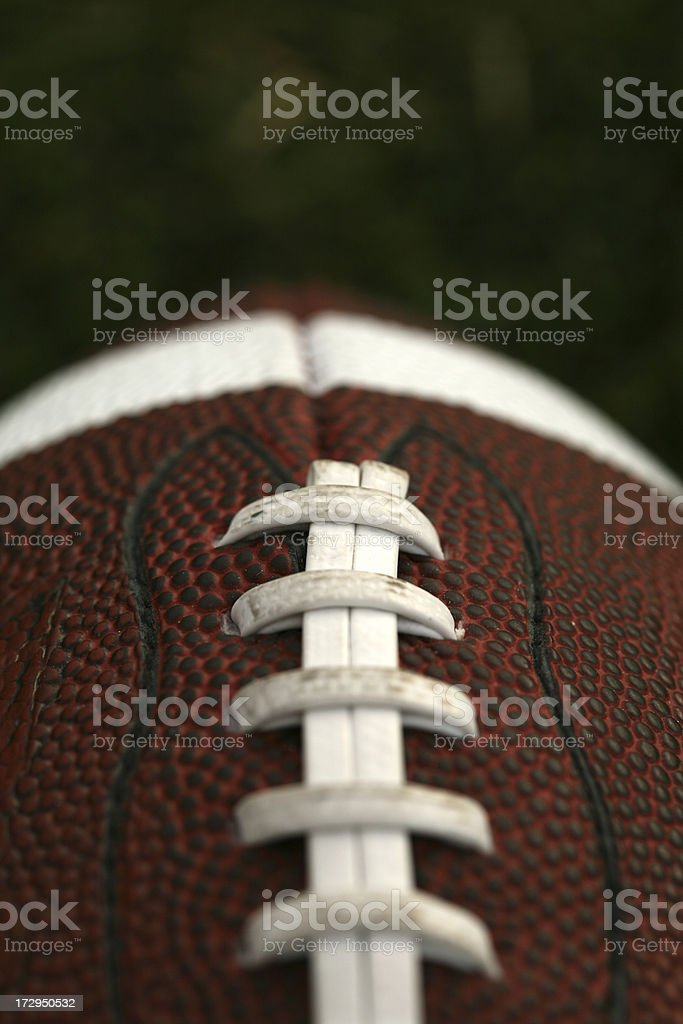 Detailed shot of football royalty-free stock photo