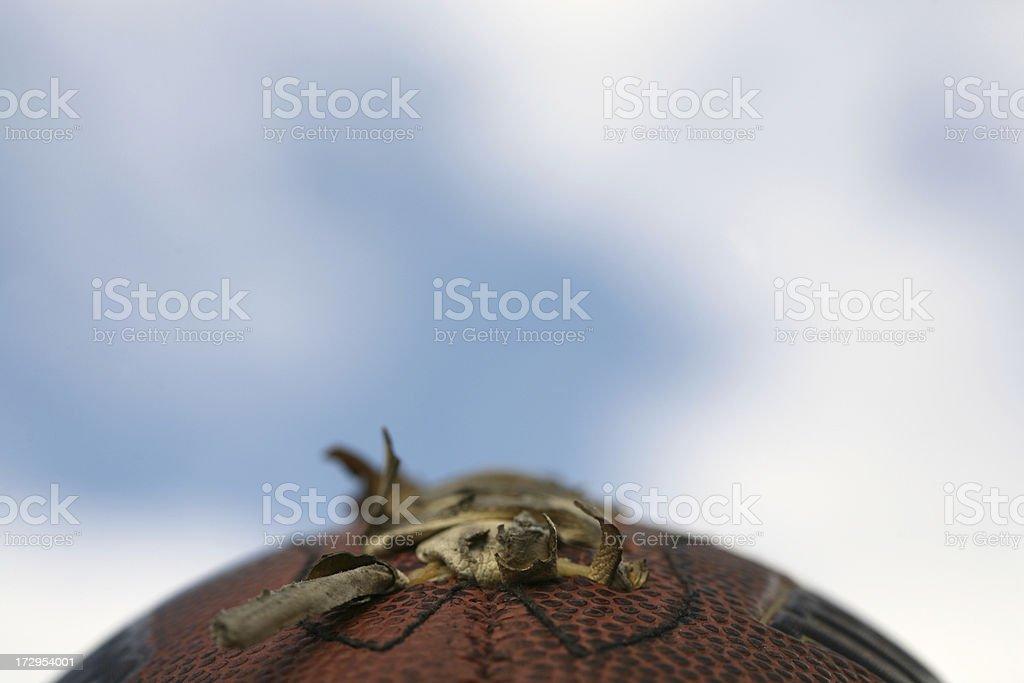 Detailed shot of football royalty-free stock photo