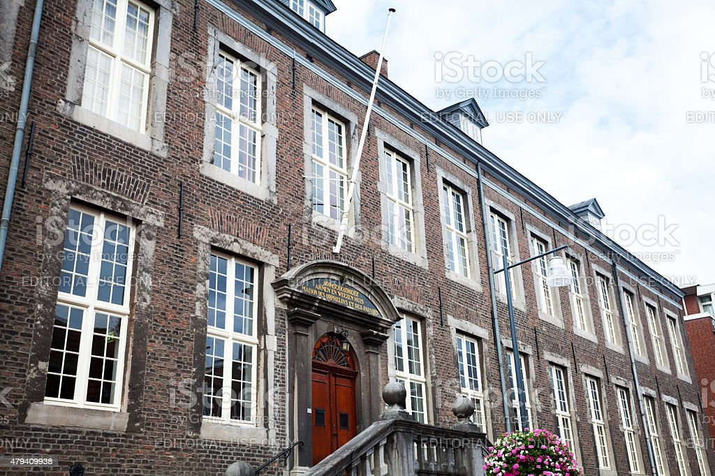 Detailed shot of orphanage Roermond stock photo