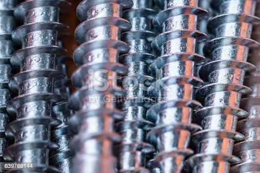 Detailed shot of screws