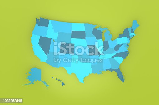 1056103150istockphoto Detailed USA map on green background 1055562546
