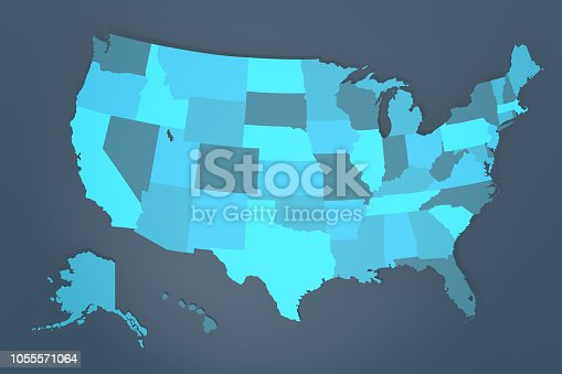 1056103150istockphoto Detailed USA map 1055571064