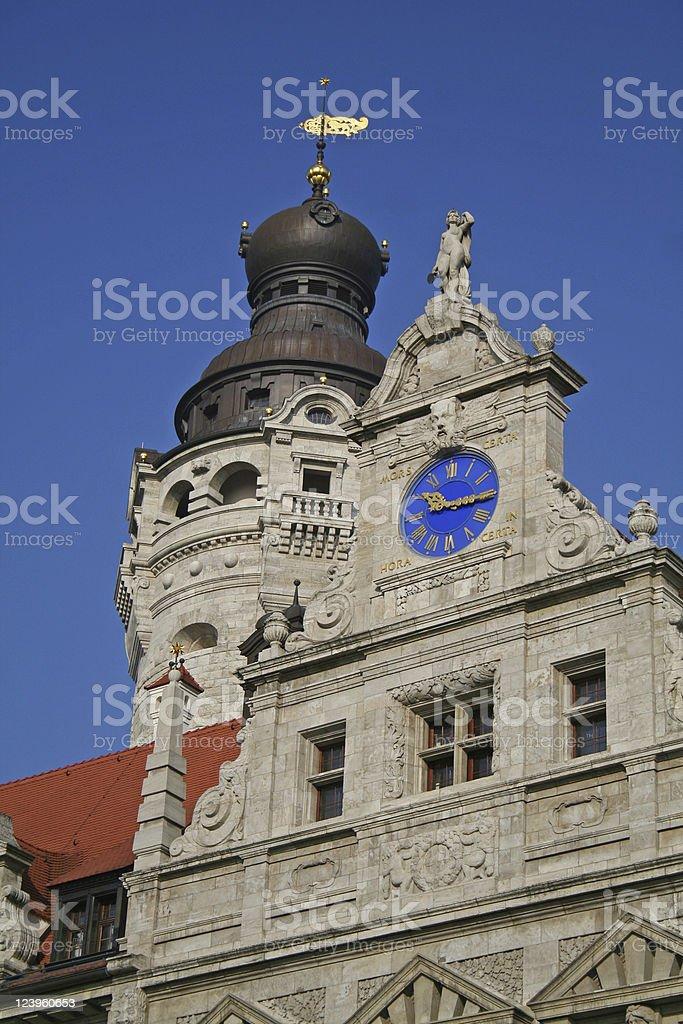 Detailansicht 'Neues Rathaus' Leipzig stock photo