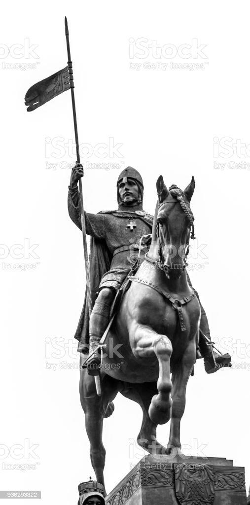 Detailed view od Statue of Saint Wenceslas, Wenceslas Square, Prague stock photo