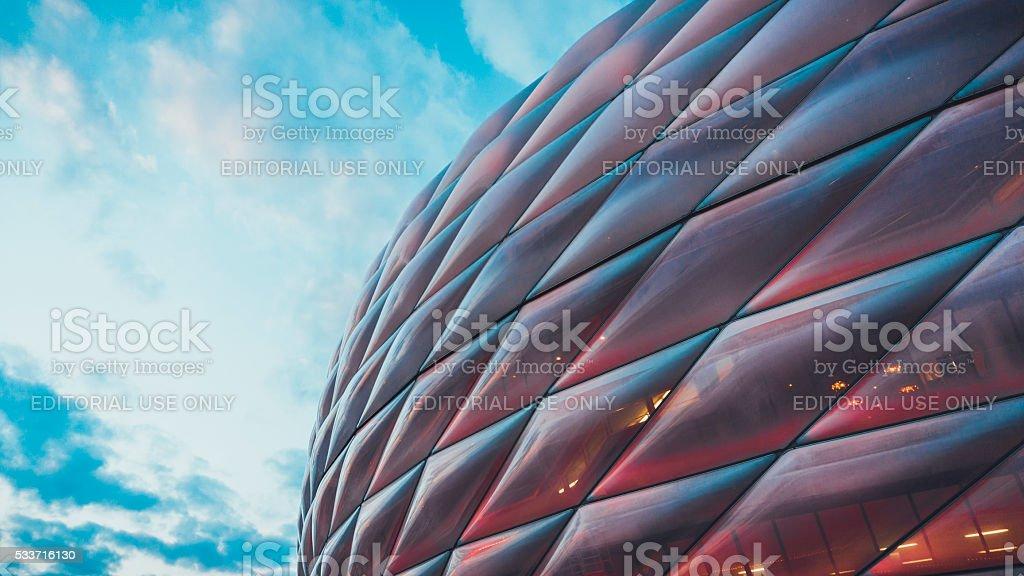 Detaillierte Blick auf der Allianz Arena – Foto