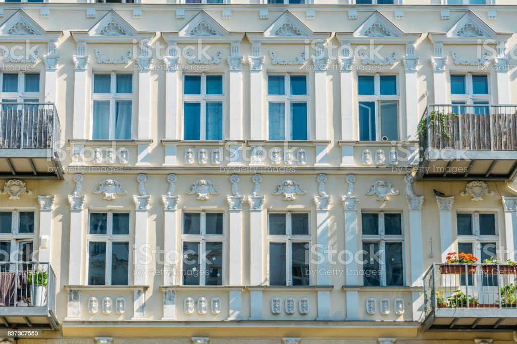 detailed view of luxury facade stock photo